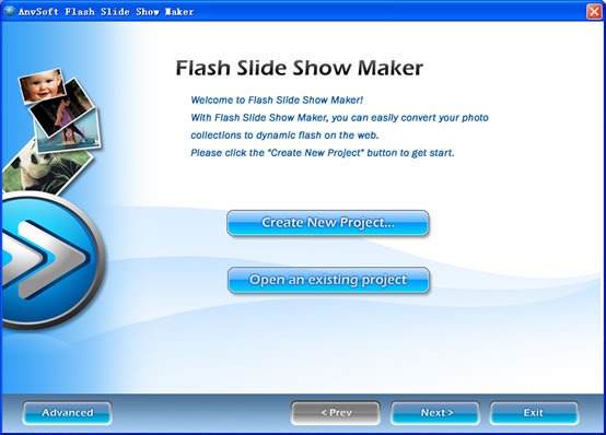 Flash Slide Show Maker - flash photo gallery scroll