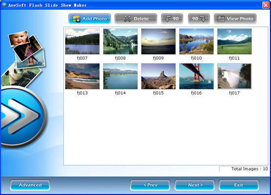 Flash Album Maker for website -  flash slide shows - anvsoft slideshow